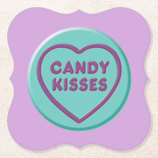 Candy Kisses Paper Coaster