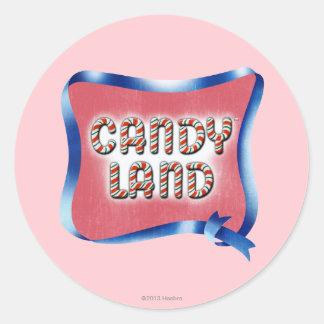 Candy Land Aged Logo Round Sticker