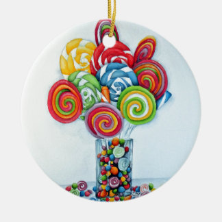 Candy land ceramic ornament