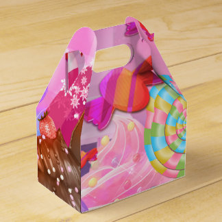 Candy Land Party Fantasy Sweets Birthday Party Favor Boxes