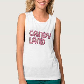 Candy Land Stacked Logo Tank Top