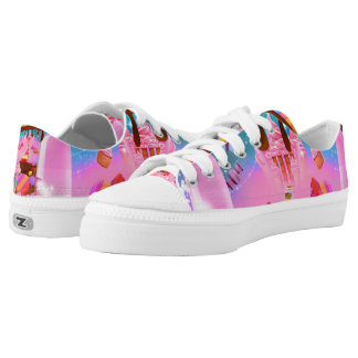 Candy Land Sweets Candy Cupcakes Chocolate Sugar Low-Top Sneakers