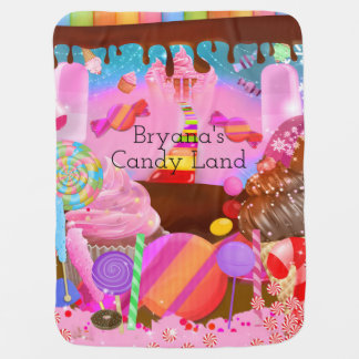 Candy Land Sweets Fantasy Custom Personalized Baby Blanket