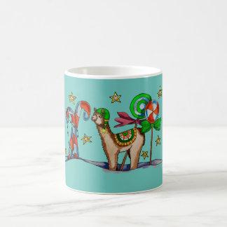 candy llama coffee mug