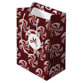 Candy Peppermint Stripes Medium Gift Bag