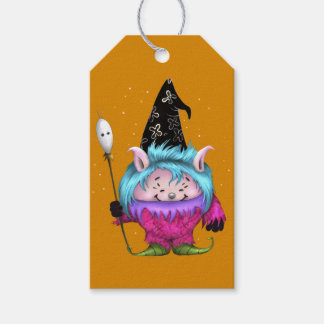 CANDY PET 1 HALLOWEEN MONSTER PINK GIFT TAG PACK OF GIFT TAGS