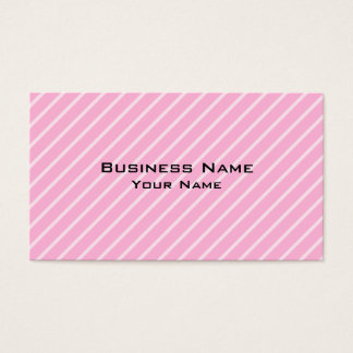 Candy Pink Diagonal Striped Pattern. Business Card