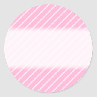 Candy Pink Diagonal Striped Pattern. Classic Round Sticker