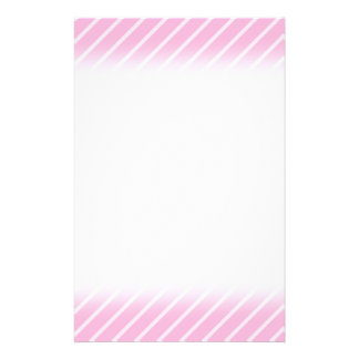 Candy Pink Diagonal Striped Pattern. Personalized Flyer