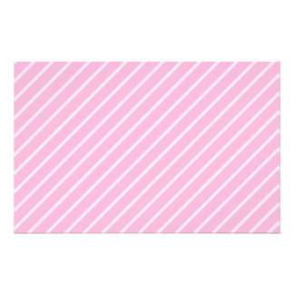 Candy Pink Diagonal Striped Pattern. Custom Flyer