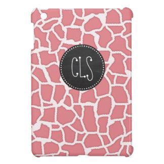 Candy Pink Giraffe Animal Print; Retro Chalk iPad Mini Covers