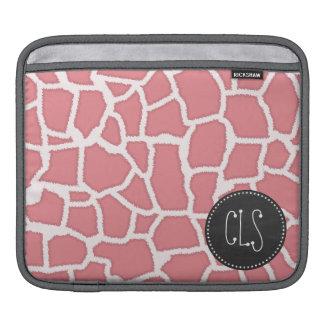 Candy Pink Giraffe Animal Print; Retro Chalk Sleeves For iPads