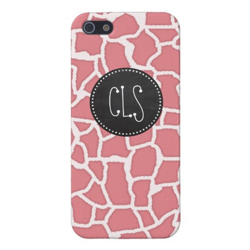 Candy Pink Giraffe Animal Print; Retro Chalk iPhone 5 Covers