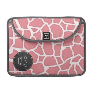 Candy Pink Giraffe Animal Print; Retro Chalk MacBook Pro Sleeve