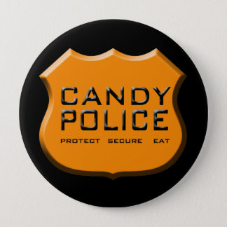 Candy Police Badge 4 Inch Round Button