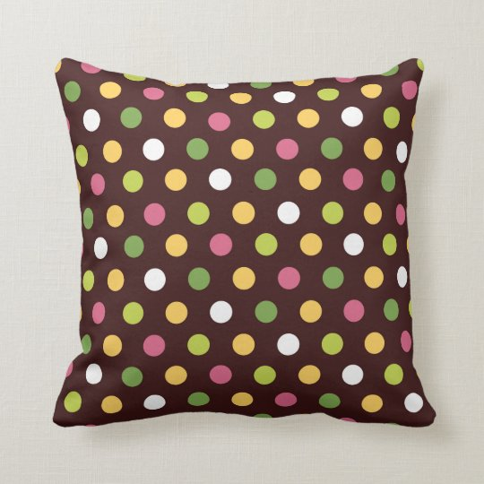 Candy Polka Dots Throw Pillow