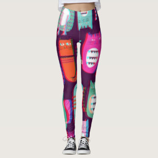 Candy Pop 3D Crazy Cats Leggings