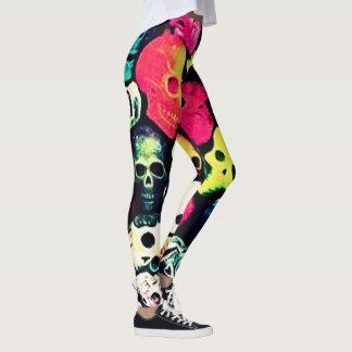 Candy Pop Dark Skulls Womens Leggings