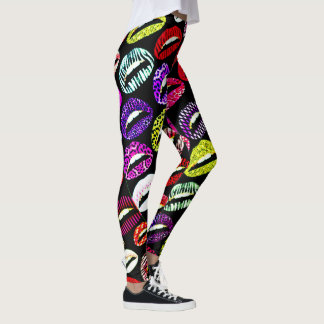 Candy Pop Kiss My Lips Womens Leggings