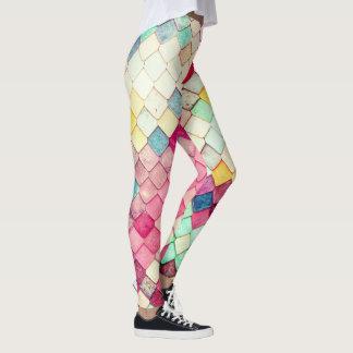 Candy Pop Mermaid Scales Womens Leggings