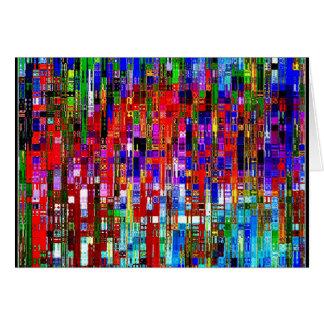Candy Rain Mosaic Card
