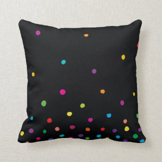 Candy Raindrops Throw Pillow