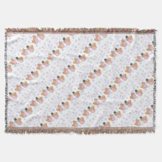 Candy robins throw blanket