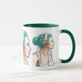 Candy Rocker Coffe Mug Punk Girl Mug Headphone Mug