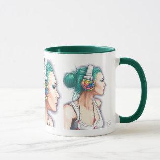 Candy Rocker Coffe Mug Punk Girl Mug Headphone Mug