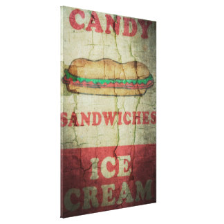 Candy, Sandwiches and Ice Cream Canvas Prints