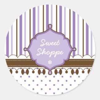 Candy Shop Lavender Custom Classic Round Sticker