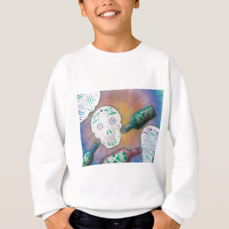 Candy Skull and Poison Bottles Sweatshirt