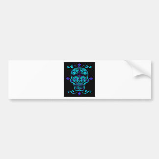 Candy Skull (Blues) Bumper Sticker