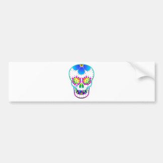 Candy skull - multicoloured bumper sticker