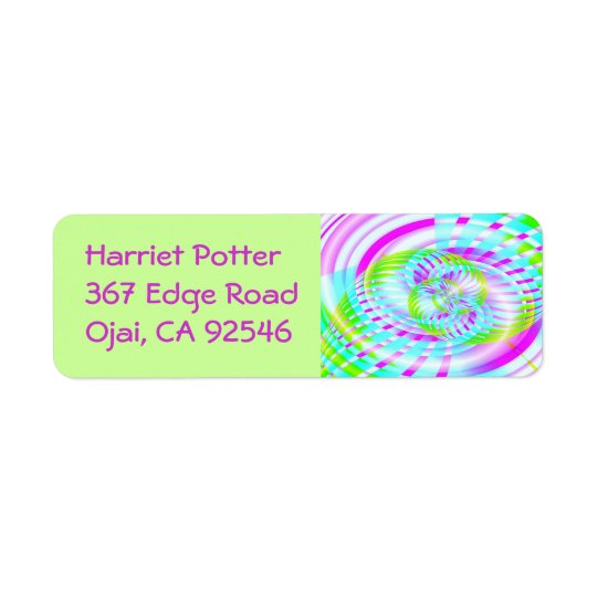 Candy Sky 3 Fine Fractal Art Return Address Label