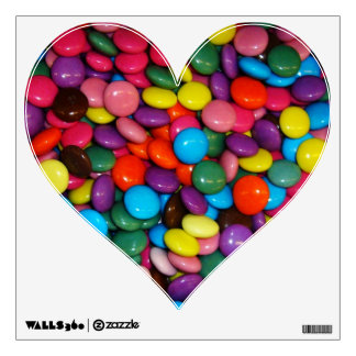 Candy Smarties Heart Wall Decal