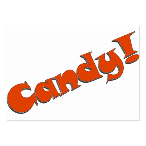 Candy! Snappy Halloween Text Image Business Card Template
