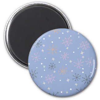 Candy snowflakes 2 inch round magnet