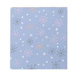 Candy snowflakes notepad