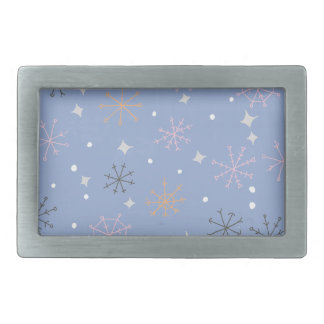 Candy snowflakes rectangular belt buckles