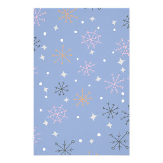 Candy snowflakes stationery