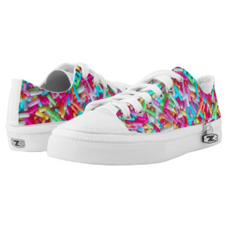 Candy Sprinkle Pattern Low-Top Sneakers