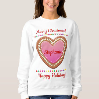 Candy-Sprinkled German Gingerbread Heart Sweatshirt