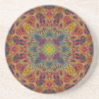 Candy Star Quadragram  Sandstone Coaster