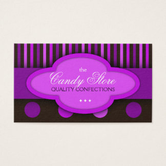 Candy Store Chocolates Confectionery Business Card