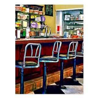 Candy Store With Soda Fountain Postcard