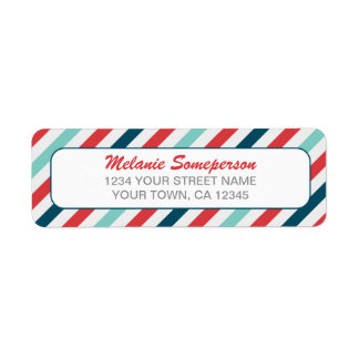 Candy Stripe Border Return Address Label