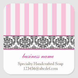 Candy stripe product label