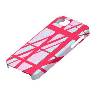Candy Stripe Red Pink Blue Cute Summer Pattern Case For The iPhone 5