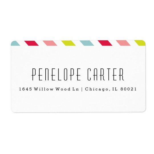 Candy stripe shipping labels